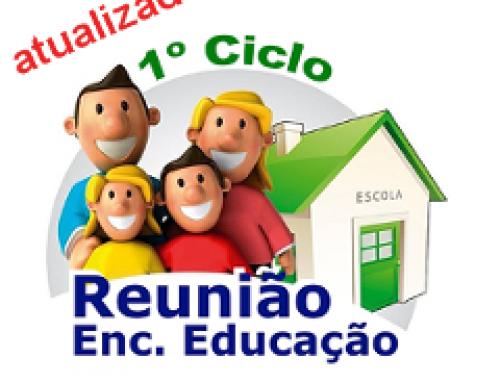 Reuniões com Encarregados de Educação de entrega de avaliação: 1º Ciclo