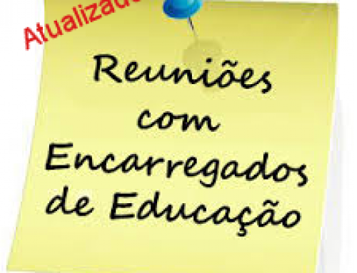 Reuniões com Encarregados de Educação de entrega de avaliação