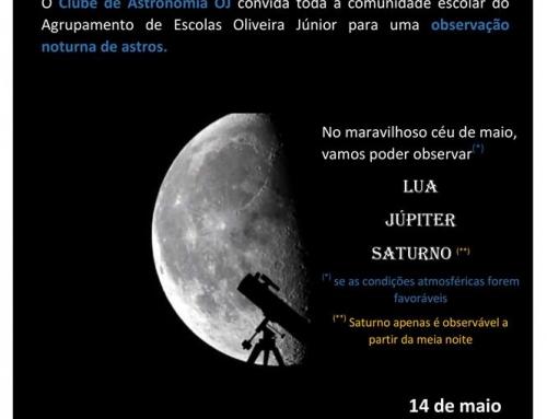 Observação Astronómica Noturna: 14 maio pelas 21h30m