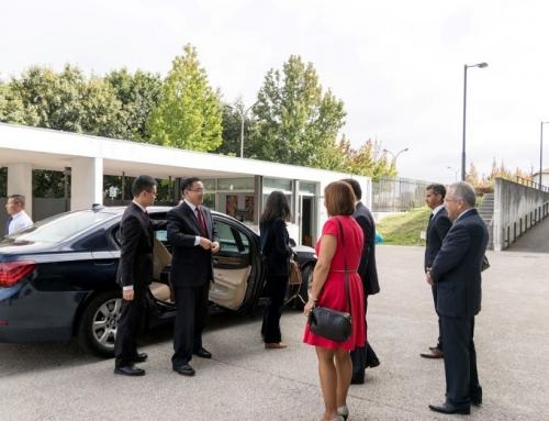 Visita do Embaixador da China à Escola Bsica e Secundária Oliveira Júnior