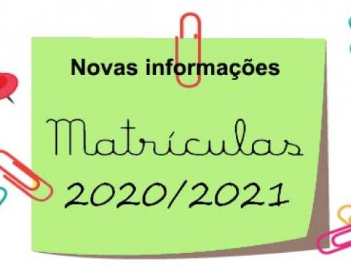 Matrículas ano letivo 2020/2021