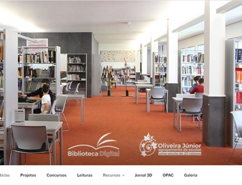 Site da biblioteca da escola Oliveira Júnior
