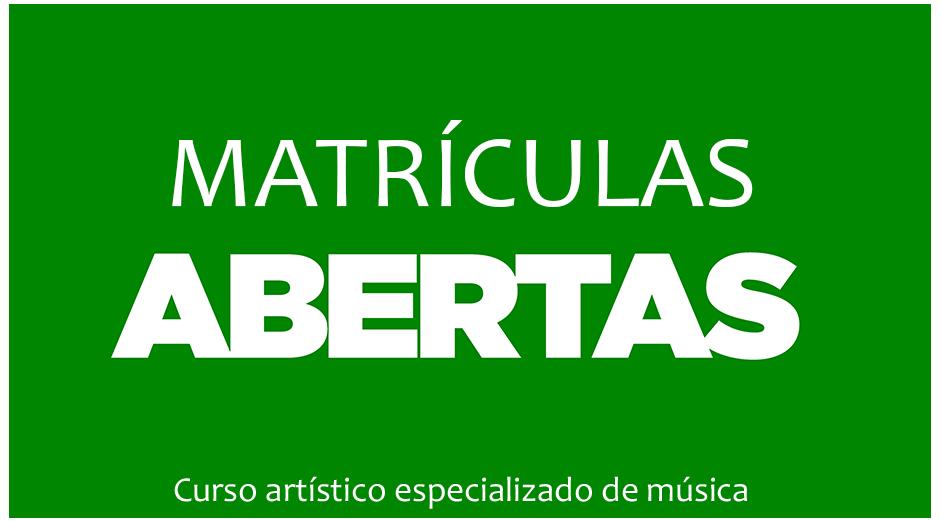 Matrículas ano letivo 2021/2022 – Curso artístico especializado de música